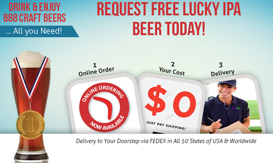 Get Your Free 888 Lucky IPA Today